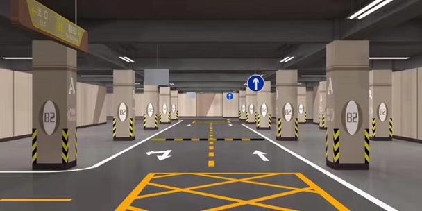 个性简洁风格停车场设计划线案例3.jpg