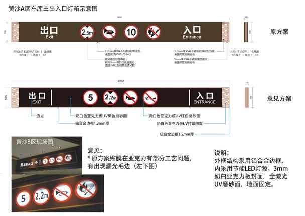 地下停车场导向灯箱标识设计