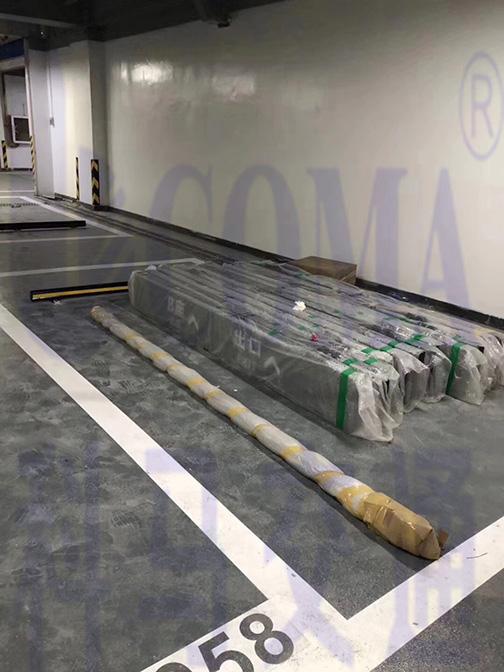 小区地下停车场交通设施项目工程灯箱标识安装