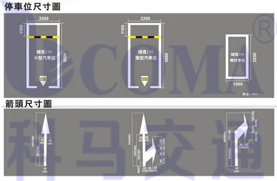 开口型停车场位施工图